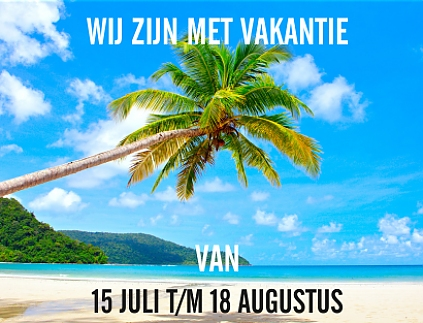 home VAKANTIEAANKONDIGING WEBSITE